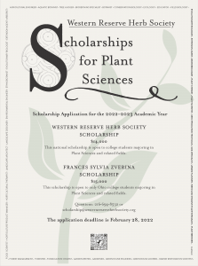 A thumbnail image of a flier on the horticulture and plant sciences scholarships. Click to access the full size flier in a new browser tab.
